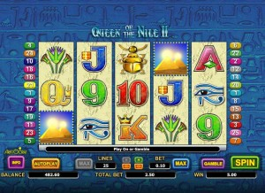 Play Queen Of The Nile II Slot Machine Online