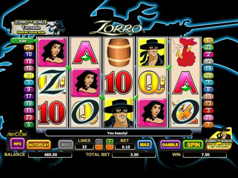 Slot zorro machine