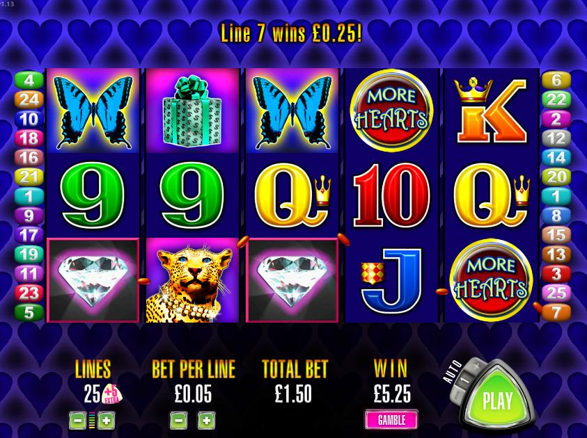 Aristocrat More Hearts Slot Machine Online