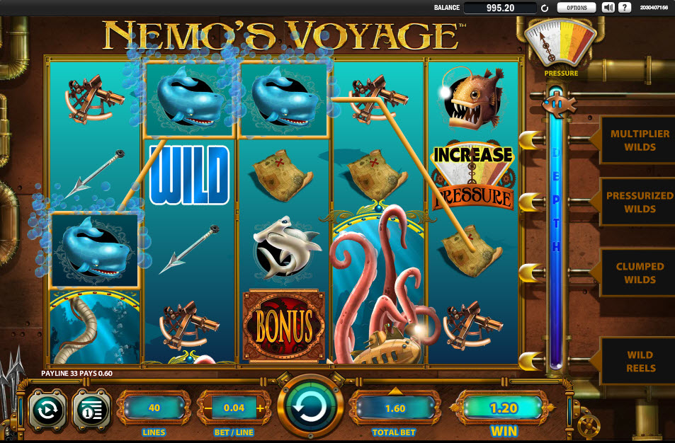 captain nemo slot machine