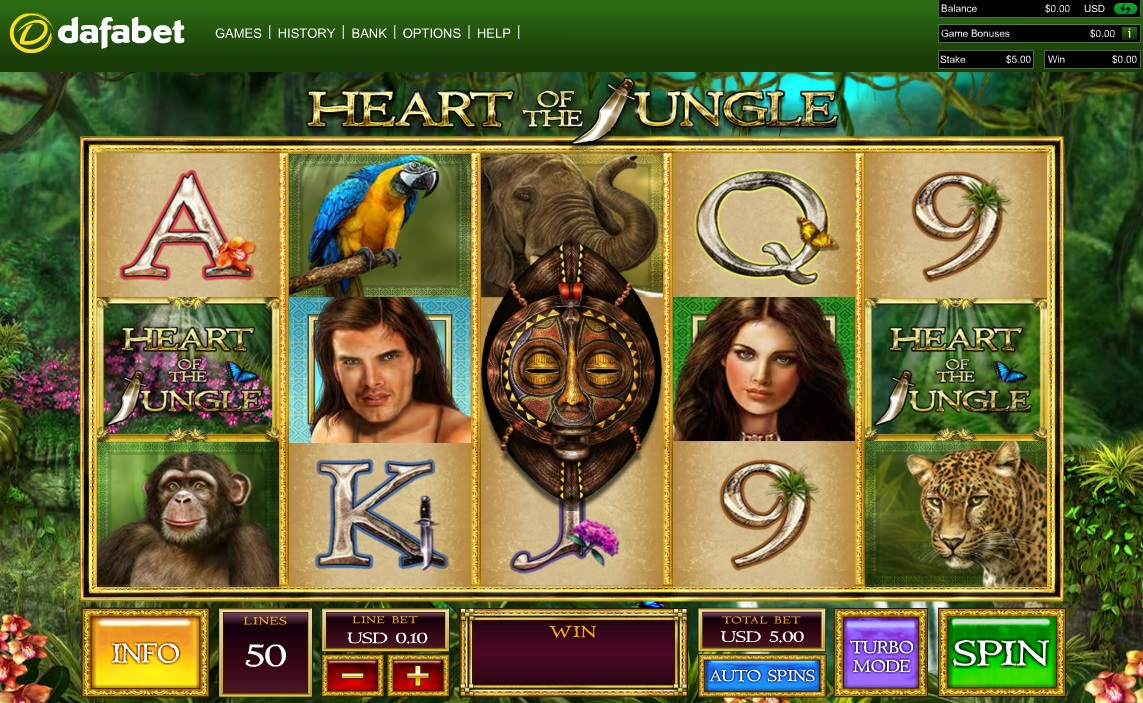 Heart of the Jungle - Free Online Slot Machine