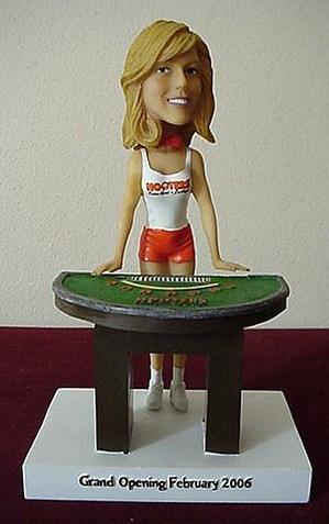 Hooters Las Vegas Casino Bobble Head Doll - For Sale
