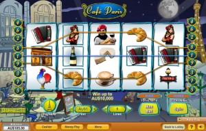 Cafe Paris Slot Machine
