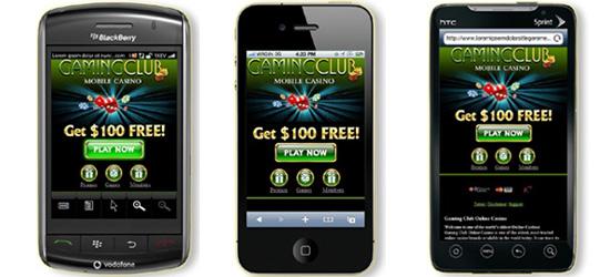 Gaming Club Mobile Casino