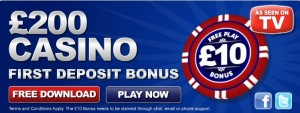 10 Pounds Free From Vernons Casino