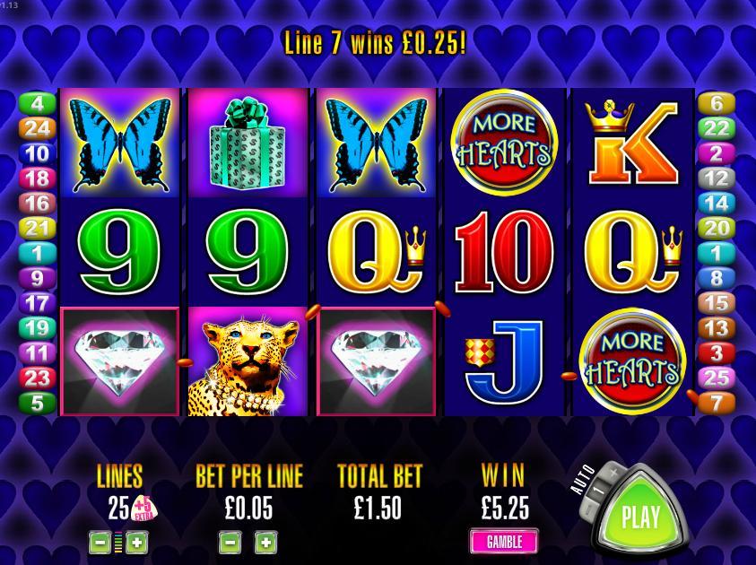 Aristocrat More Hearts Slot Machine Online