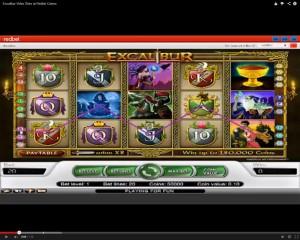 Excalibur Slot Machine at Redbet Casino