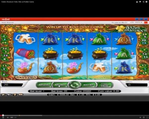 Golden Shamrock Slot Machine at Redbet Casino