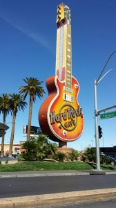 Las Vegas Hard Rock Hotel Casino Guitar Sign