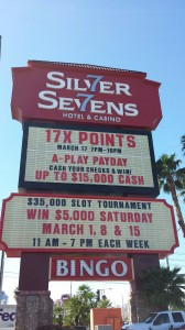 Las Vegas Silver Sevens Casino Sign