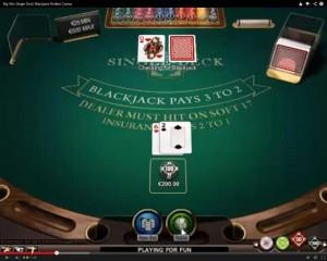 Single Deck Blackjack at Redbet Casino