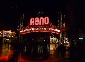 Downtown Reno Nevada Neon Street Sign