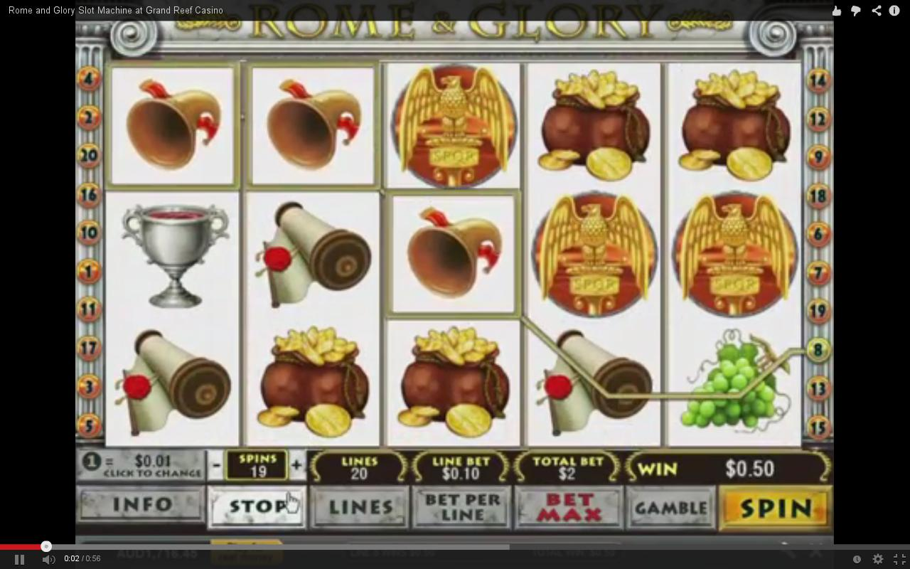 Play Rome & Glory Slots Online at Casino.com India