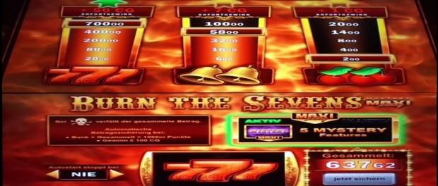 Bally Burn The Sevens Slot Machine
