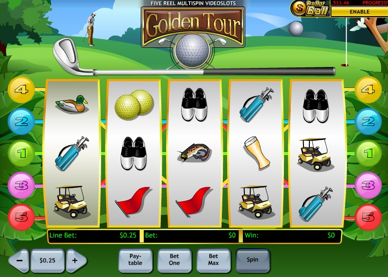 Play Golden Tour Online Slots at Casino.com UK