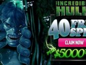 40 Free Spins on Incredible Hulk Slot Machine at Dafabet Casino