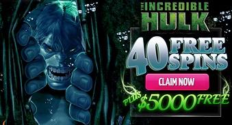 40 Free Spins on Incredible Hulk Slot Machine at Dafabet Casino