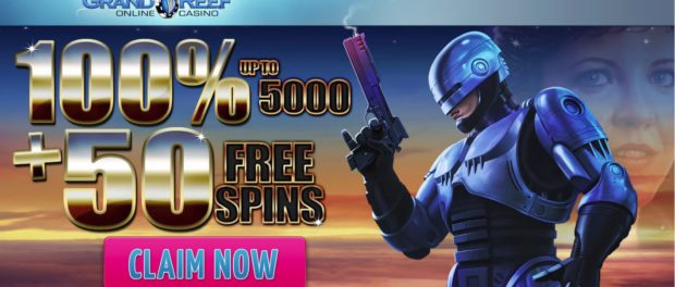 Grand Reef Online Casino 5000 Match and 50 Free Spins